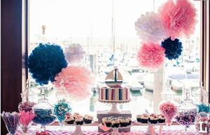 """Boda 10cm decorativo (4"""" ) fuentes de los apoyos del tejido fiesta de la boda pompones de papel Decoración Festival TY866 envío libre"""