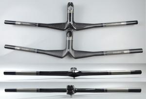 Wacako noir gris guidon VTT tout carbone velo vélo guidon plat avec potence 28.6mm brillant mat