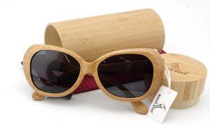 BOBO BIRD Moda gafas de sol de madera de bambú polarizadas hechas a mano gafas de sol de diseñador de marca con un accesorio creativo de la caja Dropshipping
