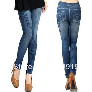 Wholesale-Womens Vintage Denim Pants Stretch Skinny Leggings Jeggings CY0655