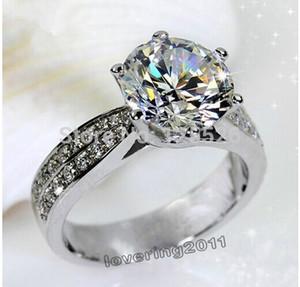 001 Victoria Wieck Sz 5-10 Engagement Weiß Topaz Diamonique 14KT Gold Gefüllt Hochzeitsband Ring Geschenk Freies verschiffen