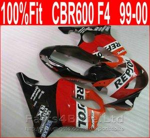 100% Fit parties rouges du corps REPSOL pour Honda CBR 600 F4 carénages personnalisés 1999 2000 CBR600 F4 99 00 kit de carénage Vyso