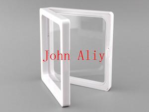 Vente chaude transparents en plastique cadre photo cadre d'affichage / boîte de collecte / boîte à bijoux 9x9x2cm
