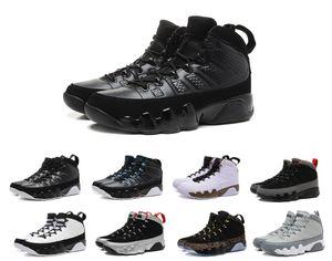 New 9 Antracite nero Statua in rame Baron Charcoal Johnny Kilroy blu Mens Scarpe da basket economici 9s IX Sneakers 7-13