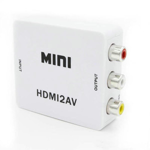 Mini HD 1080P HDMI2AV Convertitore video da HDMI a RCA AV / CVSB L / R Supporto video NTSC PAL Uscita da HDMI ad AV Adattatore OM-CD8