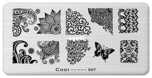 Molde do prego Cooi Série Nail Art Plate Imagem De Aço Inoxidável Konad Nail Art Stamping Template Prego DIY ferramenta