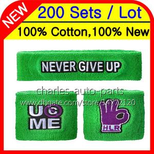24 Renkler% 100% Pamuk Yeni Sıcak Yeşil bilekliği ter bantlari bileklik ter bandı 100% Yeni 100% Yüksek Kalite Ücretsiz özelleştirilmiş Fabrika onlie store