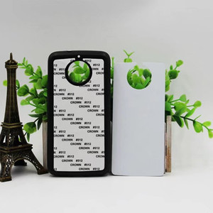 20pcs lot By HKPost Free Shipping 2D Blank Sublimation Silicon+Metal Sheet Cover Case Printing For Moto G6 TPU Case