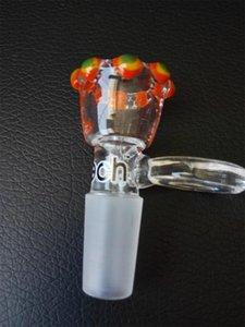 Accesorios para tubos de agua de vidrio 14.4mm El tazón de vidrio del punto de color Un accesorio para fumar de cristal más vendido, muy buen color