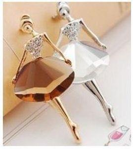 (café) bijoux coréens en gros Ballet Girl Fashion broche femme paragraphe Paragraphe luxe! # 467