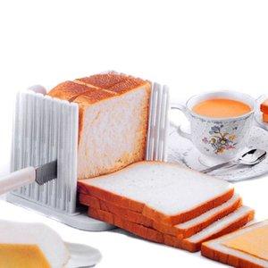 플라스틱 Foldable과 조절 가능한 빵 슬라이서 토스트 로프 샌드위치 커터 금형 제빵 도구 주방 가제트