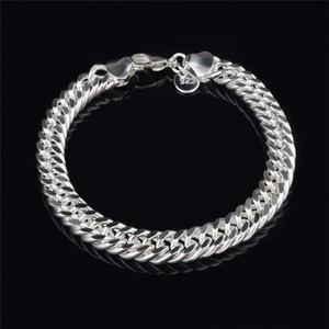 2015 Nouveau Design 6MM 8MM 10MM 925 Sterling silver Figaro chaîne bracelet Fashion Bijoux Top qualité livraison gratuite