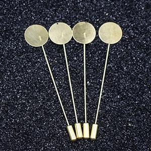Yaka pin broş Düz Boş Ayarı baz kadın erkek shawlcape eşarp bulguları yapma bağlayıcı charms uzun pins iğne composant de bijoux