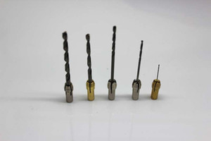 A Set 5 Pieces Drill Bits 3.0, 2.5, 1.5, 1.0, 0.5 mm with Chucks for Dremel or Polisher Burnish Machine Tool Accessory