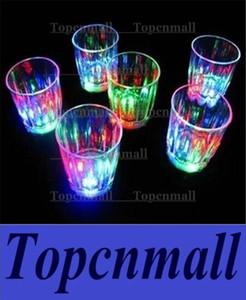 Bicchierini colorati a forma di tazza a led luminosi in plastica a forma di tazza luminosa Coppa al neon Festa di compleanno Bar da notte Bevande al vino Bicchierino da caffè in vetro