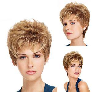 ZF Human Hair Perücken für schwarze Frauen 12 Zoll kurze lockige Perücken Rose Net Wig Cap Simulation Scalp Hig Qualität