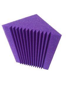12 х 12 х 24 см Фиолетовый Bass Trap Акустическая Панель Пена Для Угловой Стены Studio Room 12 ШТ.