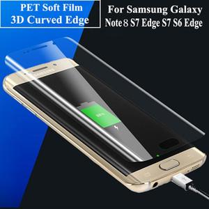 إلى Samsung Galaxy Note 8 Soft PET Film 3D Curved Surface غطاء حماية كامل للشاشة الأمامية لهاتف S8 + S8 S7 S6 Edge Plus (زجاج مقسّى)