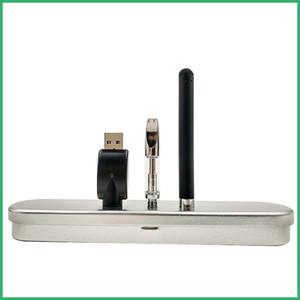510 Pré Aquecimento o Pen Bottom micro USB carregador Caixa De Metal kit BUD Pyres SS CE3 cartuchos de óleo De cera espessa vaporizador atomizador Cera Tanque Vape DHL