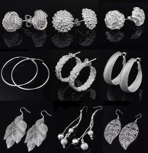 9 stili orecchini 925 Orecchini in argento orecchini a cerchio orecchino di goccia anti-allergiche orecchini gioielli in argento commercio all'ingrosso libero -0022YDH