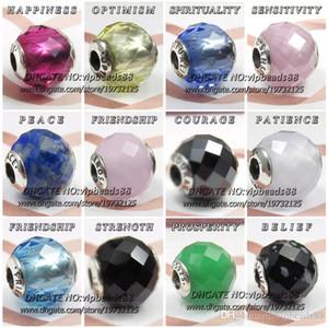 S925 Sterling Silver Essence Charm perline per Pandora FAI DA TE Gioielli donna Belle bracciale collane pendenti 3622