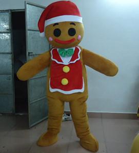 SX0727 100% réactions positives d'un costume de mascotte Gingerbread Man pour adulte à porter à vendre