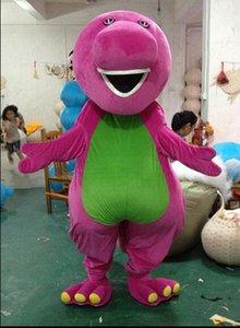 2016 Alta qualità Grande stile Professione Barney Dinosaur Mascot Costumi Halloween Cartoon formato adulto Fancy Dress