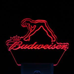 Wholesale-ws0039 Budweiser Exotic Dancer Stripper Bar Capteur Jour / Nuit Led Signe De Lumière De Nuit