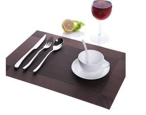 Bir PVC masa mat mat tessforest Batı tarzı gıda fincan, kase, tabak, masa örtüsü, ısı yalıtım mat