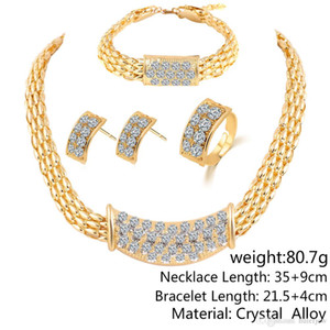 Bridesmaid Party Dubai Set Like Sets Bracelet Jewelry Wedding African Jewellery Necklace Indian Jewelry Diamond Rings 18k Gold Earrings Atxn