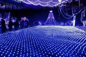 6 M * 4 M lampe nette lumières flash lampes imperméable à l'eau filets de mariage fond de rideaux décoratifs lumières de Noël lumières