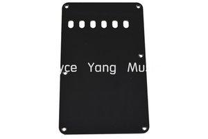 Schwarz Weiß 1 PLY E-Gitarre zurück Platte Tremolo Cover 6-Loch für Fender Strat Style E-Gitarre Schlagbrett Freies Verschiffen