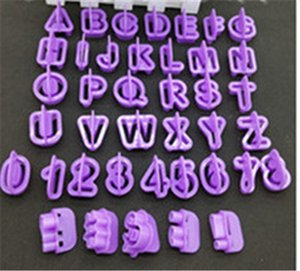 The New Belt Handle 40 PCS Alphanumeric Biscuit Moulds Sugar Cake Decorating Tools Baking For DIY