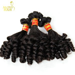 Brasilianische Tante Funmi Jungfrau-Haar-unverarbeitete rohe Jungfrau-brasilianische Funmi Haar spinnt federnd gewundene Romanze Locken 100% Menschenhaar-Erweiterungen