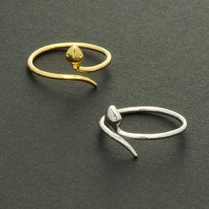 패션 18K 금 도금 반지 여자를위한 작은 뱀 반지 선물 고품질 믹스 컬러 반지