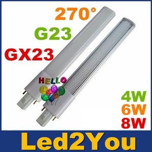G23 GX23 Led PL luz super brillante 4W 6W 8W llevó bulbos 270 Ángulo Replac CFL luces AC 85-265V