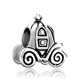 Женская мода ювелирные изделия металла Jackolantern Хэллоуин Золушка тыква перевозки Европейский распорку шарик Шарм подходит Pandora браслет