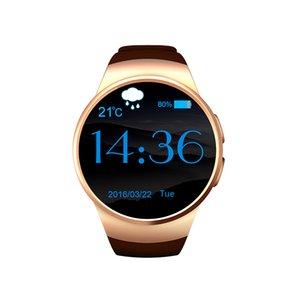 KW18 intelligente Bluetooth-Uhr völlig gerundet Android / IOS Reloj Inteligente SIM-Karte Pulsuhr Watch Clock Mic Anti verloren