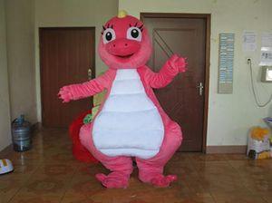 2018 горячие продажи прекрасный розовый Дракон мультфильм кукла талисман костюм Бесплатная доставка
