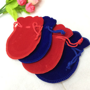 100pcs Velvet Jewelry pouches ring earrings pendant charm packing Bag Bundle gift Bags Size 7.5*9.5cm free shipping