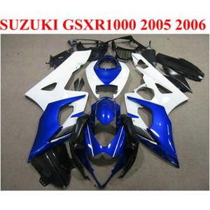 Jeu de carénages de carrosserie pour SUZUKI 2005 2006 GSXR1000 K5 K6 bleu blanc noir 05 06 Nouveau kit de carénage GSXR 1000 TF72