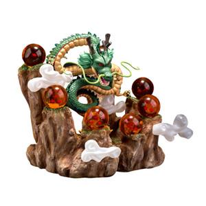 Dragon Ball Z Figuras de Ação Lote Shenron Figura Shenlong PVC com Dragonball Z Conjunto De Bola De Cristal Dragon Ball Prateleira Conjunto Completo