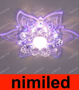 nimi527 moderne Creative Flower LED Aisle lumières Couloir LED lampe en cristal Salon Plafonnier Downlight Spotlights Balcon éclairage