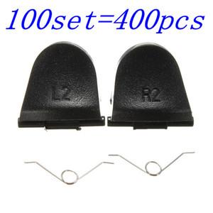 100 مجموعات 400 قطع أزرار الزناد l2 r2 مع الينابيع استبدال أجزاء لسوني ps4 بلاي ستيشن 4 وحدة تحكم 4 الساخن