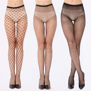 Calze a rete sexy elastiche Maglia collant Maglia donna Collant neri Calze autoreggenti Calze lunghe Sopra le calze al ginocchio