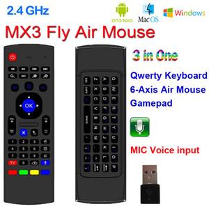 X8 2.4 Ghz Teclado Inalámbrico MX3 con 6 Ejes Mic Voz Modo de Aprendizaje IR 3D IR Air Air Mouse Control Remoto con Control Remoto para Android Smart TV Box