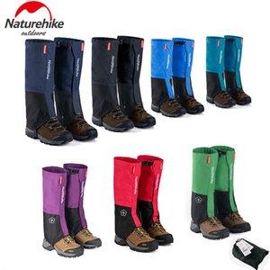 Gros-Naturehike neige imperméable Couvre Meadows extérieur ski jambes guêtres Bottes Couvre-Chaussures Hommes Femmes Dirt épreuve Randonnée Legging Noir