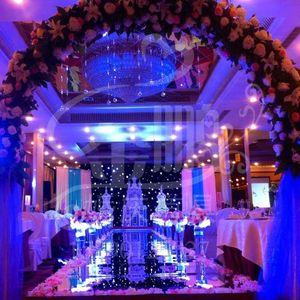 Alta qualità 1 m / 1.2 m / 1.5 m 1.8 m / 2 m Wide Shiny Decorazione di cerimonia nuziale Runner Runner T Stazione specchio forniture