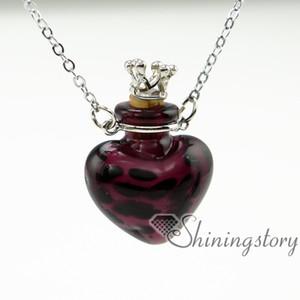Kalp küçük parfüm şişesi uçucu yağ kolye aromaterapi difüzör asılı kolye cam şişe kolye parfüm şişe necklac