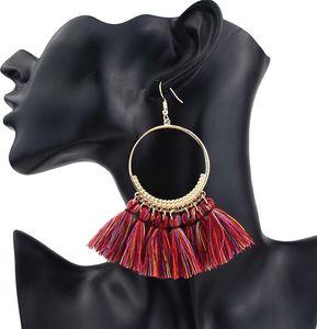 Boucles d'oreilles déclaration Tassel été 2019 boucles d'oreilles longues perles pour les femmes faites à la main grande balancent épiaison à la mode de bijoux de mode gros